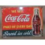 Placa Em Madeira Para Decoração Coca-cola