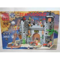 Castelo De Soldados X Piratas - 366 Peças - Similar Lego