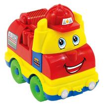 Veiculo Caminhão Monta Desmonta Bombeiro Brinquedo Infantil