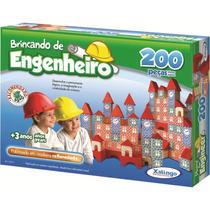 Brinquedo Pedagógico Brincando De Engenheiro 200 Peças