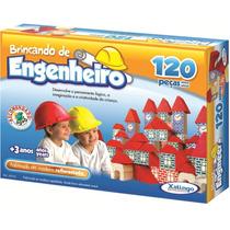 Brinquedo Pedagógico Brincando De Engenheiro 120 Peças