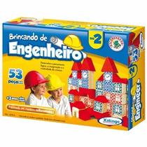 Brinquedo Pedagógico Madeira Brincando Engenheiro 53 Peças