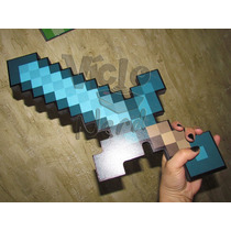 Espada De Diamante Minecraft Foam