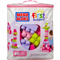 Mega Bloks Firts Blocks Sacola 60pcs Menina Mattel
