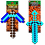 Kit Espada E Picareta Minecraft Original Diamante Ouro Ferro