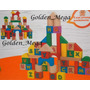 Caixa Bloco Alfabeto Cubo Letras-colorida Pedagógico Madeira