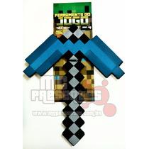 Kit 4 Ferramenta Minecraft Espada Picareta Diamante Inmetro