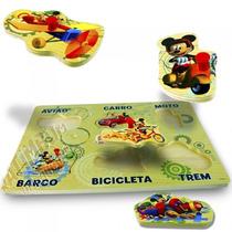 Brinquedo De Madeira Encaixe As Peças Mickey Disney