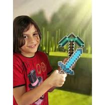 Kit 2 - Mini Espada E Mini Picareta Minecraft Em Plástico