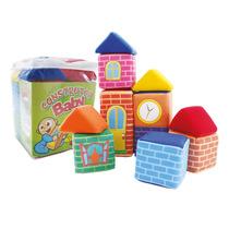 Blocos Montar Construtor Baby 10pç Brinquedo Pedagógico Bebê