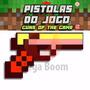 Pistola Revólver Arma Minecraft Diamante Ouro Ferro Xbox
