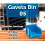 Caixa Gaveta Plástica Azul Ou Preta Nº5 Bin 50 Peças