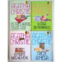 Coleção Livros Aghata Christie 4 Volumes Editora Record