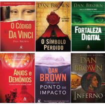 Dan Brown (6 Livros) - Código Da Vinci, Inferno E Outros