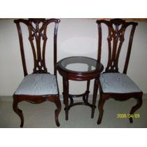 Cjto. Mesa E 2 Cadeiras - Madeira Maciça - Móveis Atlântica!