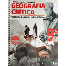 Livro Geografia Crítica 9º Ano, Nova Ortografia - J.william