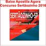 Apostila Concurso Sertãozinho - Auxiliar De Desenvolvimento