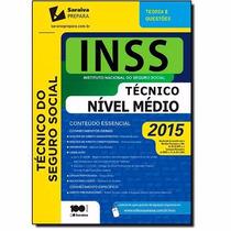 Livro Concurso Técnico Do Inss (ed. 2015) Teoria E Questões