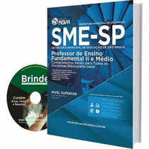 Apostilas Professor Fundamental 2 Médio Concurso Sme/sp 2016