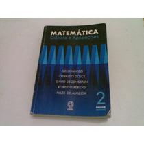 Livro ,,, Matematica ,,, Ciencia E Aplicaçoes 2001