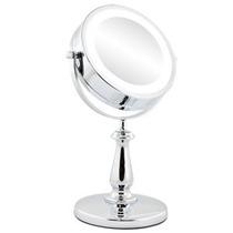 Espelho De Mesa Luz De Led Cromado Pronta-entrega No Brasil!
