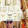 Tattos Flash Tatuagem Ouro Kit C 6 /gold /metálica +1 Brinde