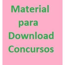 Concurso Material Pra Download De Acordo Com O Edital
