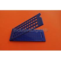 Reglete Positivo Escrita Braille 12c ~ 4l + Punção Azul