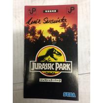 Manual Do Jogo De Mega Drive Jurassic Park