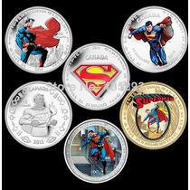 Coleção 6 Moedas Superman -