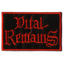 Patch Bordado - Vital Remains - Logo - P01 - Importado
