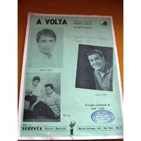 Partitura Original A Volta -roberto Carlos-erasmo-vips