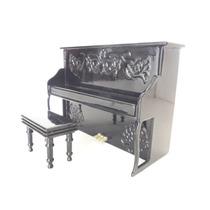 Piano De Parede - Miniatura Decorativa (sem Som) Com Case