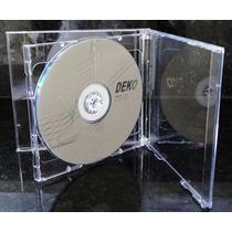 Capa / Caixinha / Estojo Cd Box Duplo Transparente 10 Unidad