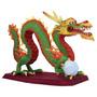 Papel Modelismo 3d - Dragão Chines Maravilhoso