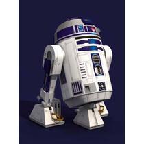 Maquete De Papel 3d - Star Wars R2-d2 Para Imprimir E Montar