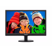 Monitor Philips 193v5lsb2 18,5 Led Hd Widescreen Preto-nf