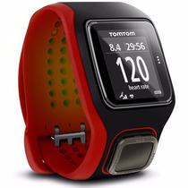 Relogio Tomtom Runner Cardio Gps Monitor Vermelho E Preto