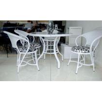 Conjunto Mesa E Cadeiras Fibra Sintética Arcobalena