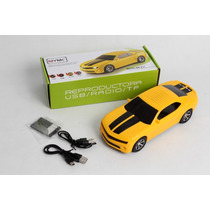 Caixa De Som Grande Camaro Amarelo,pen Drive, Mp3,mod. Novo