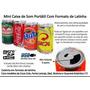 Caixinha De Som Mp3 Usb P2 Fm Lata Coca
