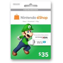 Cartão Nintendo 3ds - Wii U Eshop Cash Card $35 - Imediato!
