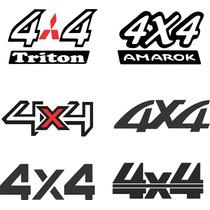 Adesivos 4 X 4 Off Road Pickup / Jipe / Lada Niva