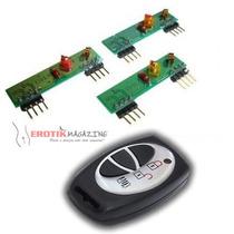 Transmissor + Receptor Rf 433 Mhz (controle Remoto Completo)