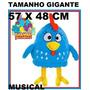 Pelucia Galinha Pintadinha Gigante 57x48cm Brinquedo Musical
