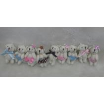 Mini Urso 4cm Lembrança Chá De Bebê/maternidade 10 Unidades