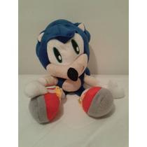 Bonecos Pelúcia Sonic Azul Sega 40 Cm