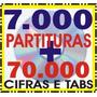2 Cds Com 7 Mil Partituras + 70 Mil Cifras E Tablaturas