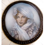 Dimarc - Antiga Pintura S/celuloide Fig. Dama Assin. 13x12cm