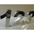 Números Em Aço Inox 30cm P/ Residencia E Comercio Letras 3d